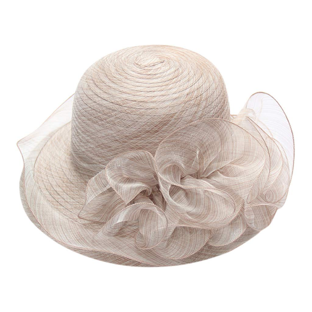 ala Ancha Estilo Vintage Playa Sombreros Grandes para Mujer Elegantes Boda Vacaciones Sombrero para Fiesta