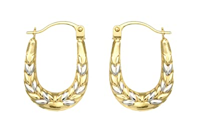 Adara 9 ct Gold Mini Twist Creole Earrings QDaIetEL