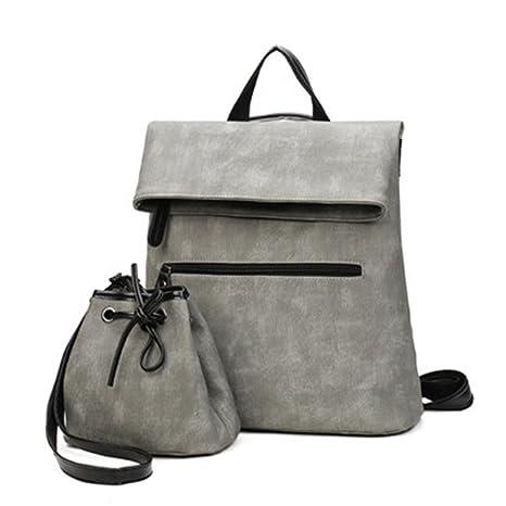 2 mujeres PCS/SET mochila escuela de Hotsale de mujer de PU cuero mochila bolsos