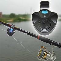 One Planet Products Fishing Bite Alarm with Best Seneitive Electronic Indicator LED Sound Alert On Fishing Rod with Loud Siren Daytime/Night Carp Fishing Outdoor
