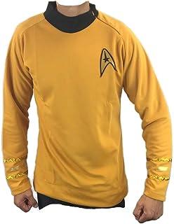 Star Trek Darkness Captain Kirk Command Logo Uniform Costume Women/'s T-Shirt Tee