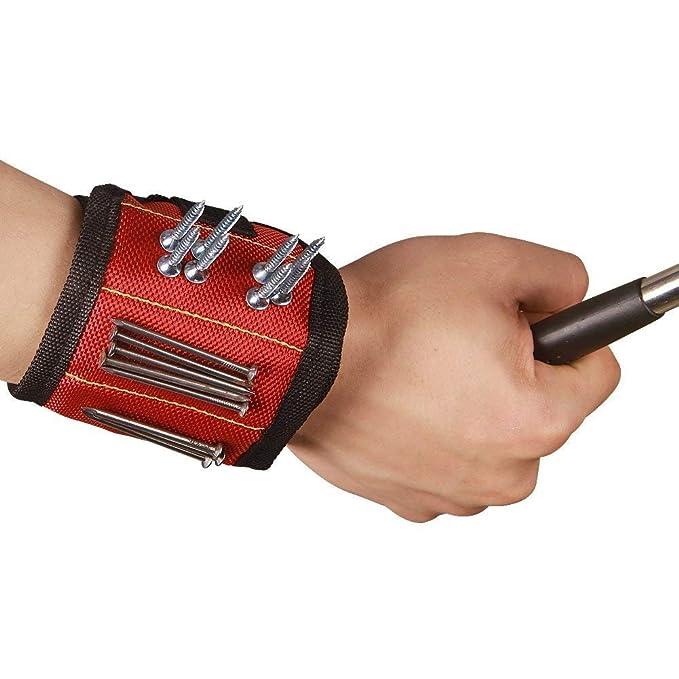 2 QEES Magnetarmband Vatertagsgeschenk f/ür Schrauben Nagel CTD01