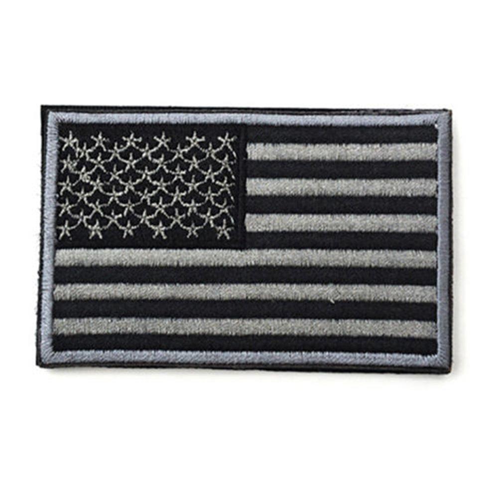 Minkoll Toppa ricamata della bandiera americana, ricamato i militari patriottici di USA che cucono sui distintivi