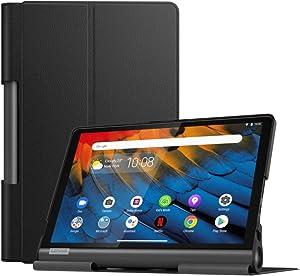 MoKo Case Fit Lenovo Yoga Smart Tab 10.1(YT-X705F), Ultra Lightweight Slim Smart Shell Stand Cover Case for Lenovo Yoga Smart Tab 10.1(YT-X705F) Tablet - Black