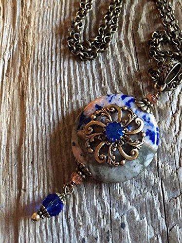 Antique Filigree/05 Bejeweled Rosette on Orange (Bejeweled Filigree)