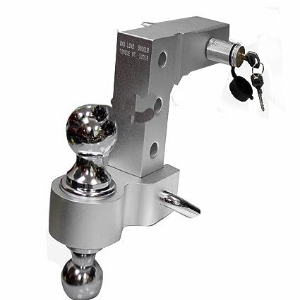 Adjustable Tow Hitch >> Amazon Com Aluminum Adjustable Raise Drop Tow Hitch Mount Lock