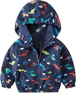 587545a08b55 Amazon.com  lymanchi Kid Baby Boy Dinosaur Hooded Zip Jacket Coat ...