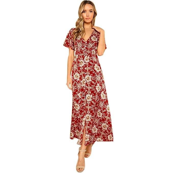 AIMEE7 Vestido Estampado De Mujer Vestidos Largos Verano Vestidos Largos De Fiesta Vestidos Bohemios Largos Vestidos