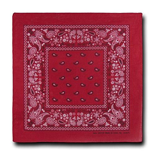 kaiser-collection-double-sided-paisley-bandanas-1-dozen-red