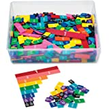 hand2mind Plastic Rainbow Fraction Tiles, Bulk Math Manipulative Kit for the Classroom (15 Sets of 51 Tiles), Model…
