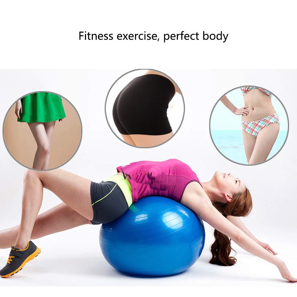 Pelota Suiza Gym Ball,Pilates Pelota de Ejercicio Anti-Burst para Yoga Embarazo Equilibrio Fitness Entrenamiento, Balón Robusto Antideslizante y ...