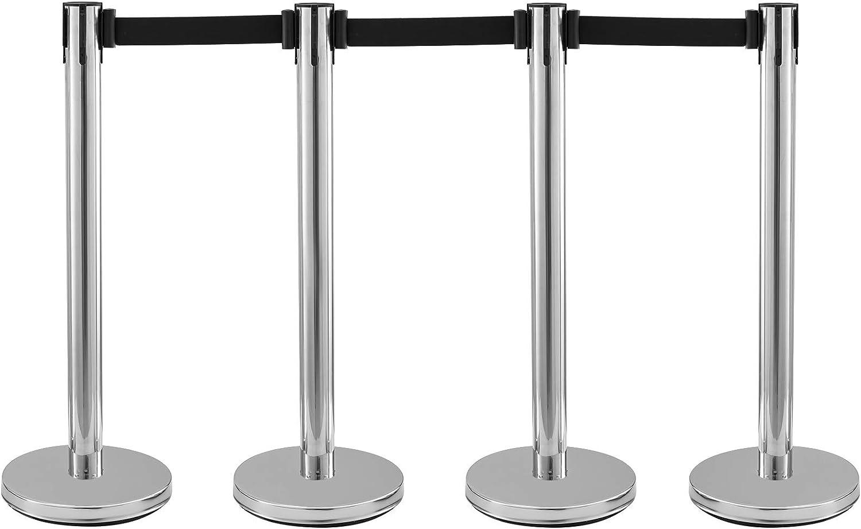Frantools Edelstahl Crowd Control Rungen Gummibasis Silver Pole Black Belts