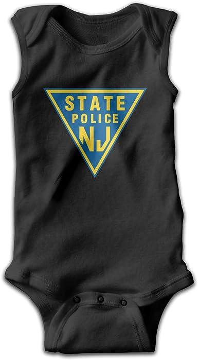 Dunpaiaa New Jersey State Police Smalls Baby Onesie,Infant Bodysuit Black