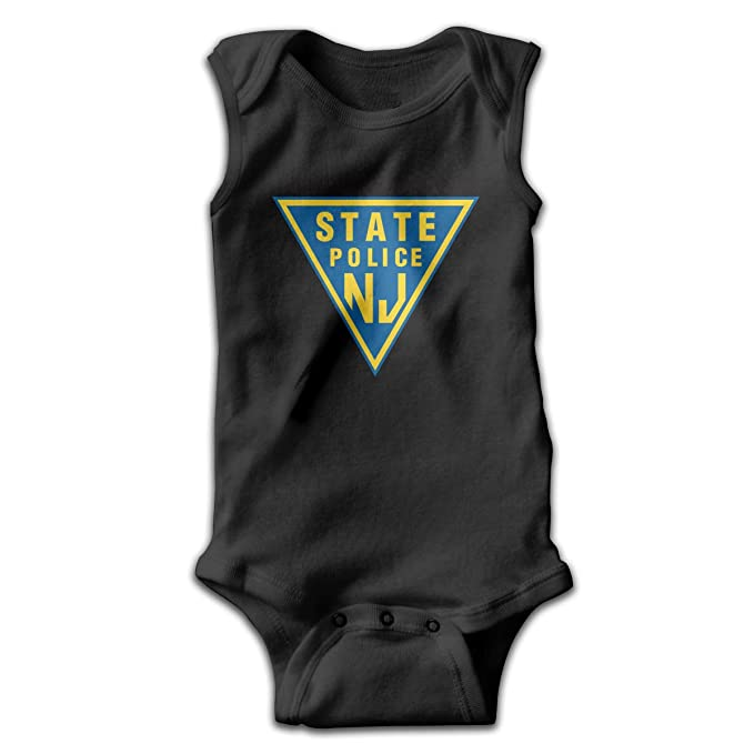 3a236bec8 Dunpaiaa New Jersey State Police Smalls Baby Onesie,Infant Bodysuit Black  0-3M