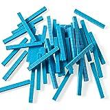 hand2mind 5532 Blue Plastic Base Ten Blocks, Rods (Pack of 50)