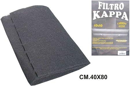 De Sarno Filtro para campana extractora cm. 80 x 40 negro: Amazon.es: Hogar