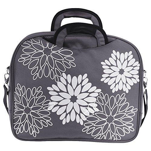 15 And Deluxe Carry Printed Interior Laptop Grey Closure Pockets 6