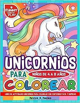 Libro De Actividades Unicornios Para Colorear Con Contenido Fácil ...