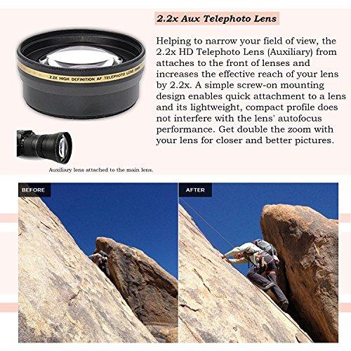 "Canon DSLR Camera Canon 18-55mm IS & Kit Battery + Case 64GB + + 50"" Tripod + Professional Bundle"