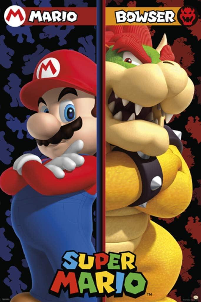 Amazon Com Pyramid America Super Mario Bros Mario Vs Bowser Video