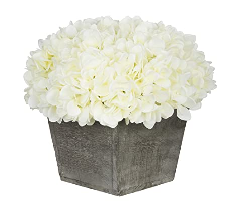 Amazon house of silk flowers artificial hydrangea in grey house of silk flowers artificial hydrangea in grey washed wood cube white mightylinksfo