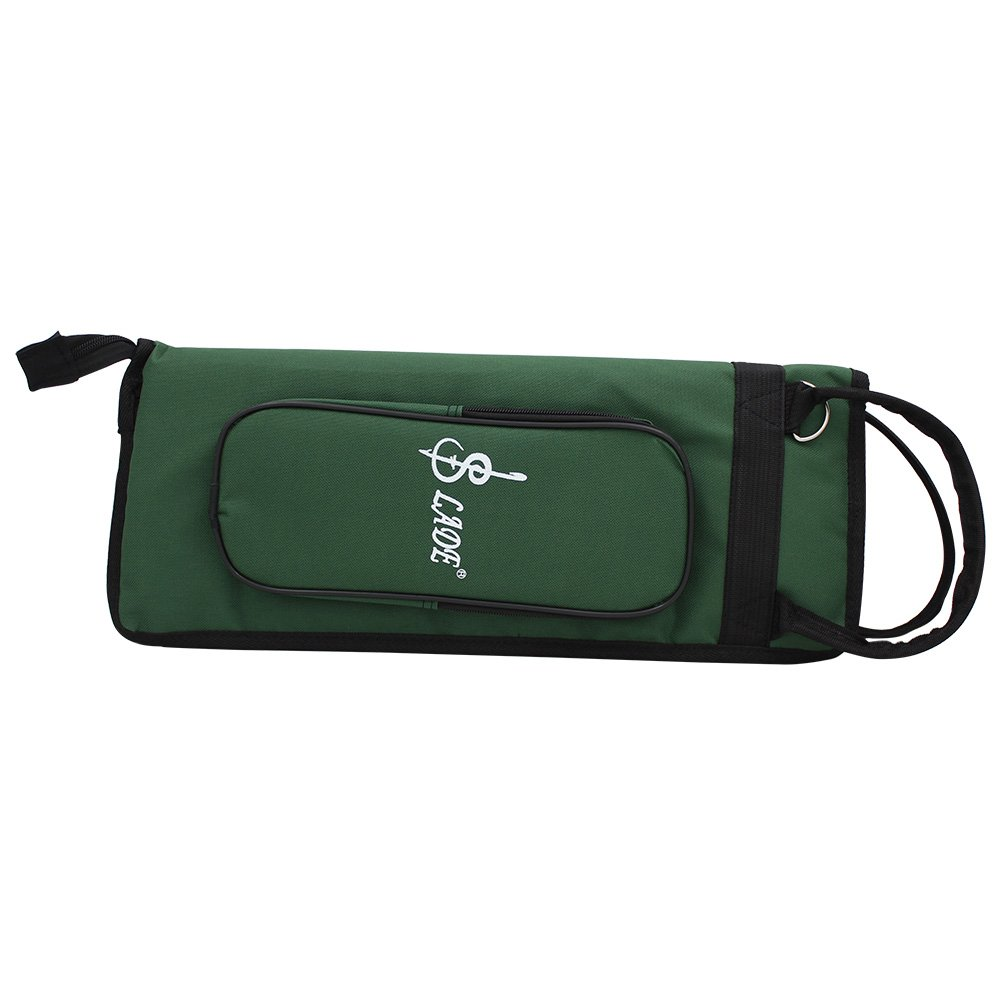 Andoer LADE Thicken Padded Drum Stick Bag Case Water-Resistant Oxford Cloth with Shoulder Strap
