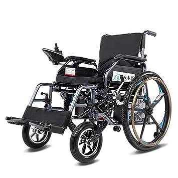 Yhongyang Silla de Ruedas eléctrica para discapacitados para Ancianos, de Cuatro Ruedas, batería de Litio, 24 A, Plegable con Estructura de Acero al Carbono ...
