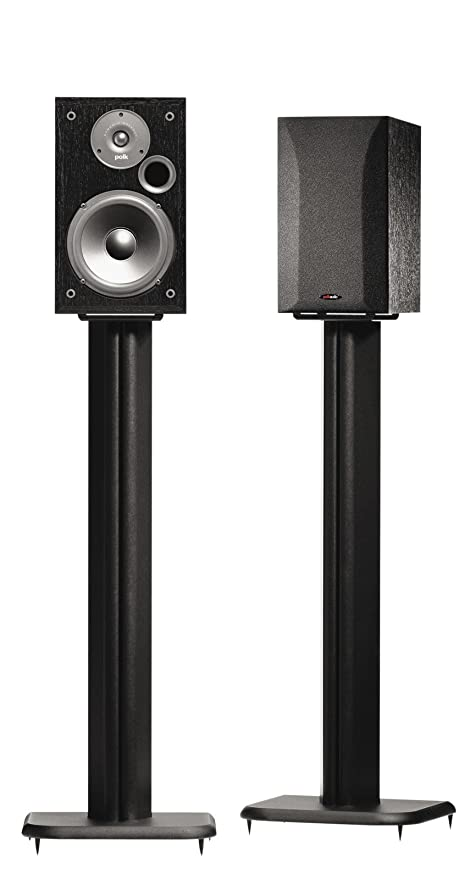 SANUS BF31 B1 31quot Speaker Stands For Bookshelf Speakers Up To 20 Lbs