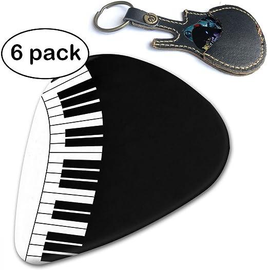 C-Emily - Púas de Guitarra clásicas para Teclado de Piano 351 (6 Unidades) para Guitarra eléctrica, Guitarra acústica, mandolina y bajo (Finas, Medianas y Pesadas): Amazon.es: Hogar