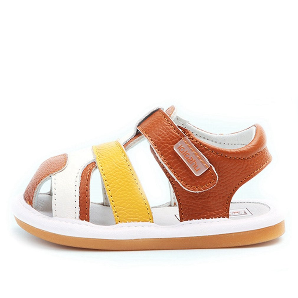 CYBLING Toddler Boy Girl Summer Outdoor Closed-Toe Leather Sandals Athletic Fisherman Beach Shoes