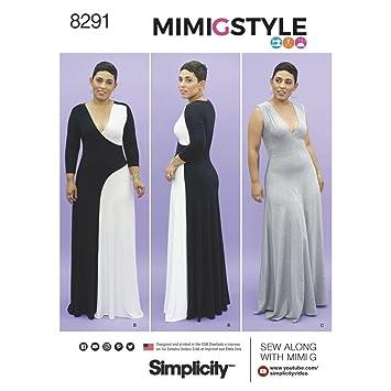 Simplicity Muster 10 12 14 16 18 Misses Damen Strick Kleid