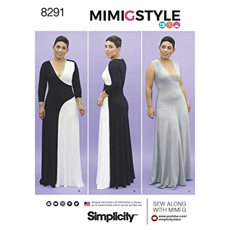 Simplicity Pattern 20W-28W Misses/Women\'s Knit Dress Sewing Pattern ...