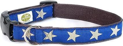 Earthdog Hemp Dog Collar in Star Pattern