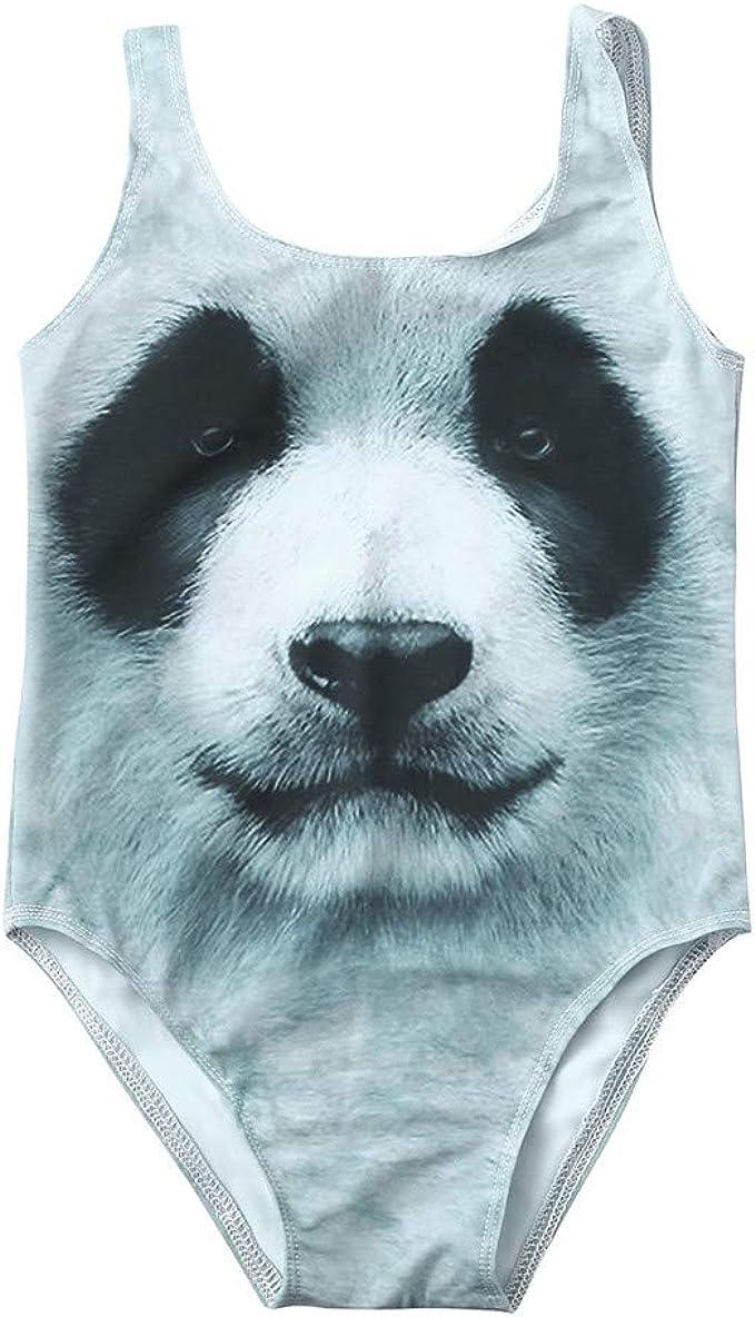 Lazzboy Traje de ba/ño para Ni/ña Imprimir Panda Ropa de Playa Romper