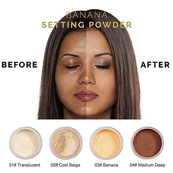 Amazoncom Phoera Powder Loose Face Powder Translucent Smooth
