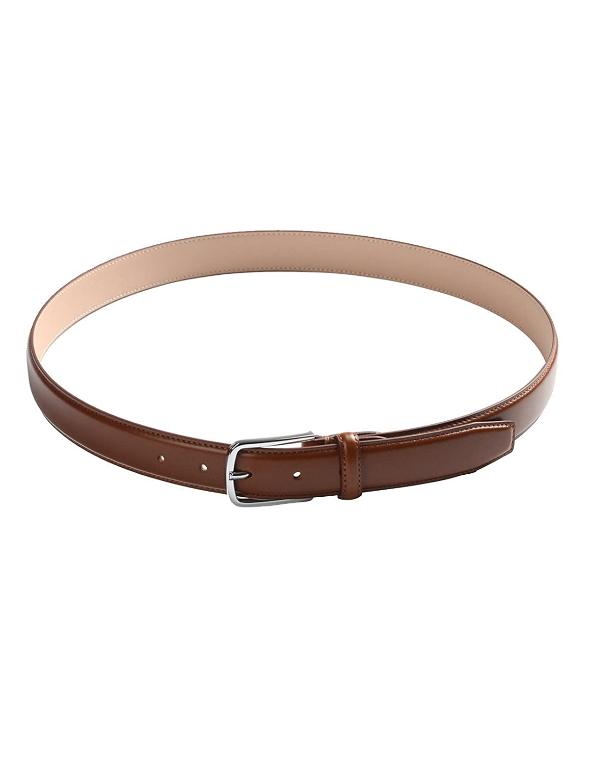 FLATSEVEN Mens Leather Classic Dress Belt with Buckle