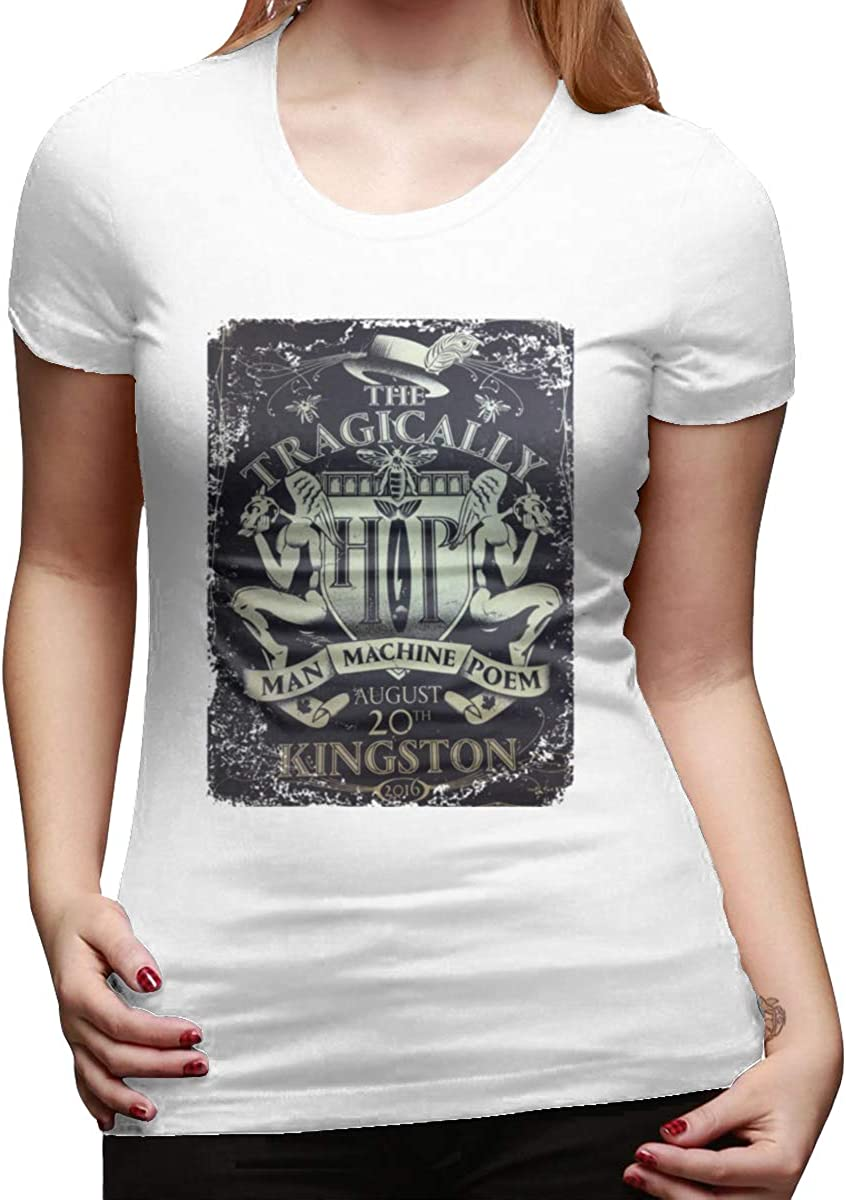 HIPGCC Womens Summer T Shirts Print with The Tragically Hip White Short Sleeve
