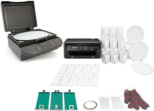 PixMax Michelangelo Bundle: 3d sublimación prensa de calor máquina ...
