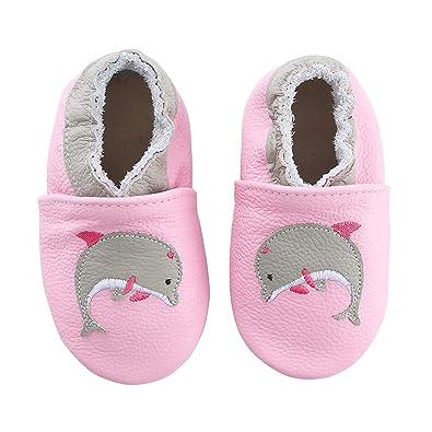 best sneakers ca28c e1336 KOSHINE Weiches Leder Krabbelschuhe Baby Schuhe Kinder ...