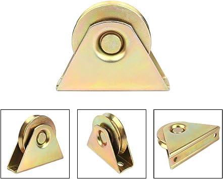 88mm 3.5 inch V Type Sliding Gate Roller V Groove Wheel Track Rail for Sliding Gate Track Industrial Machines