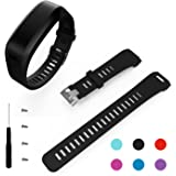 Garmin Vivosmart HR Band, BeneStellar Replacement Soft Silicone Bracelet Sport Strap Wristband Accessory with Screwdriver for Garmin Vivosmart HR(No Tracker, Replacement Bands Only)