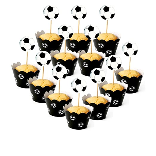 caolator 24 pcs Cake Topper Cup Cake Toppers frontera ...