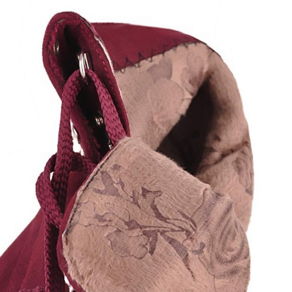 ZHRUI Damenmode Damenmode ZHRUI Stiletto Herbst Stiefel Schnürung 5210a2