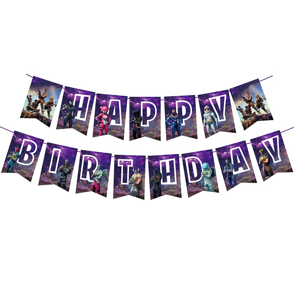 Gaming Birthday Party Banner for Kids Happy Birthday Party Supplies Decorations