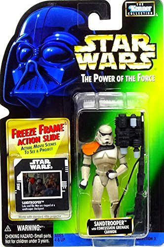 KENNER 1996 POTF SANDTROOPER GREEN CARD W/ HOLOGRAM COLL. 3 ACTION FIGURE (3 Moc)