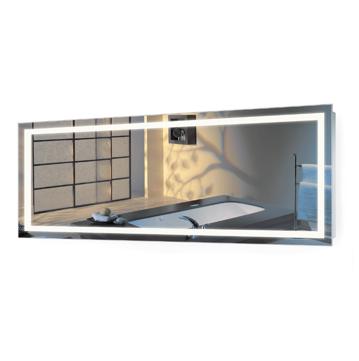 | Large 72 Inch X 30 Inch LED Bathroom Mirror | Lighted Vanity Mirror Includes Dimmer & Defogger | Wall Mount Vertical or Horizontal Installation |