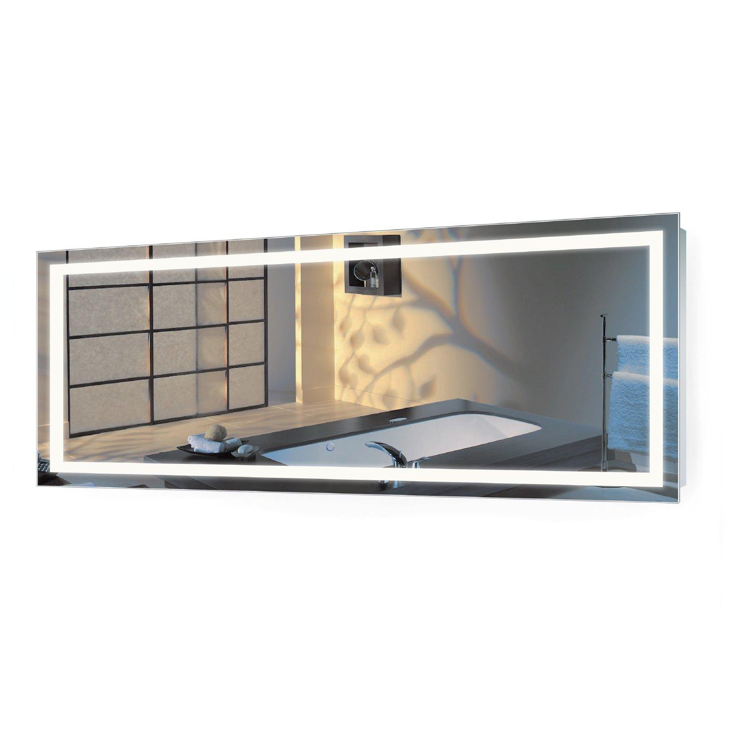 Large 72 inch x 30 inch led bathroom mirror lighted - Large horizontal bathroom mirrors ...