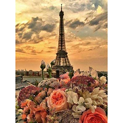 Q&K Puzzles 1000 Piece for Adults Wooden Paris Tower at Dusk Art Puzzle Game Toys Challenging DIY Modern Art Love Unique Gift Wedding Decoration: Home & Kitchen