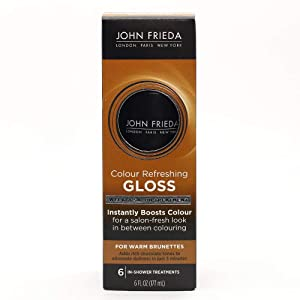 John Frieda Precision Colour Refreshing Gloss for Warm Brunettes, 6 Ounce, Revitalize Rich Chocolate Color, Brown Toning Treatment, Ammonia and Peroxide Free