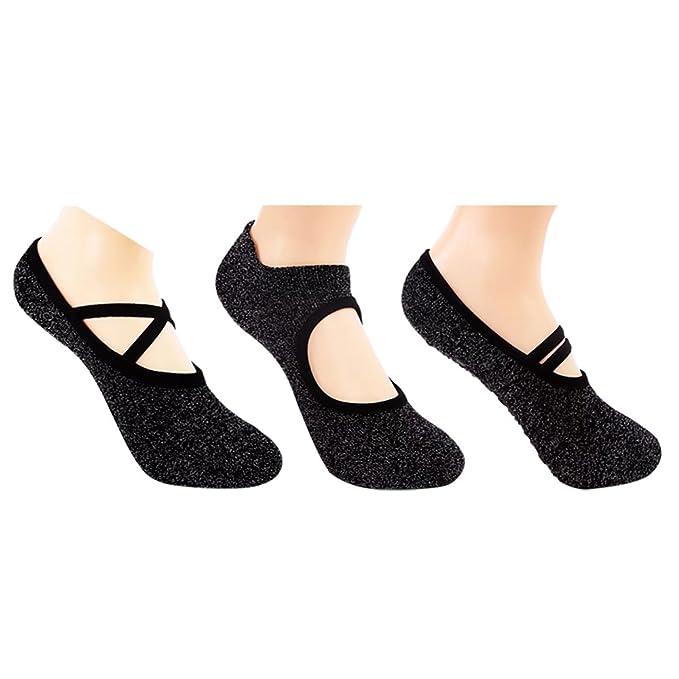 Pluto & Fox Calcetines Para Yoga Baile Ballet Con Silicona Antideslizante Material Mezcla Con Hilo De